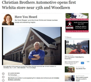 Christian Brothers Automotive Opens First Wichita Store Near 13th and Woodlawn